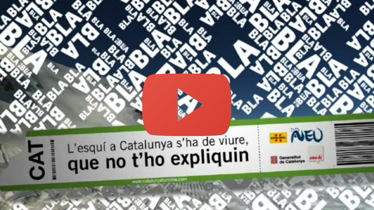 advertising visionatv que no t ho expliquin advertising campaign based on catalonia s skiing slopes 34 spots 40 each tv3 and catalonia tourism 2007 2009